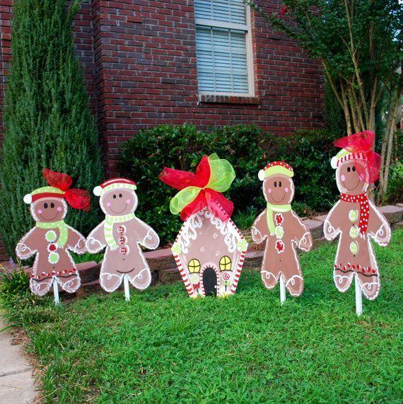 Christmas yard decor gingerbread man christmas decor for Christmas decoration 94