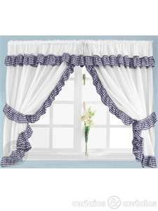 image search results for navy blue gingham kitchen curtains decor