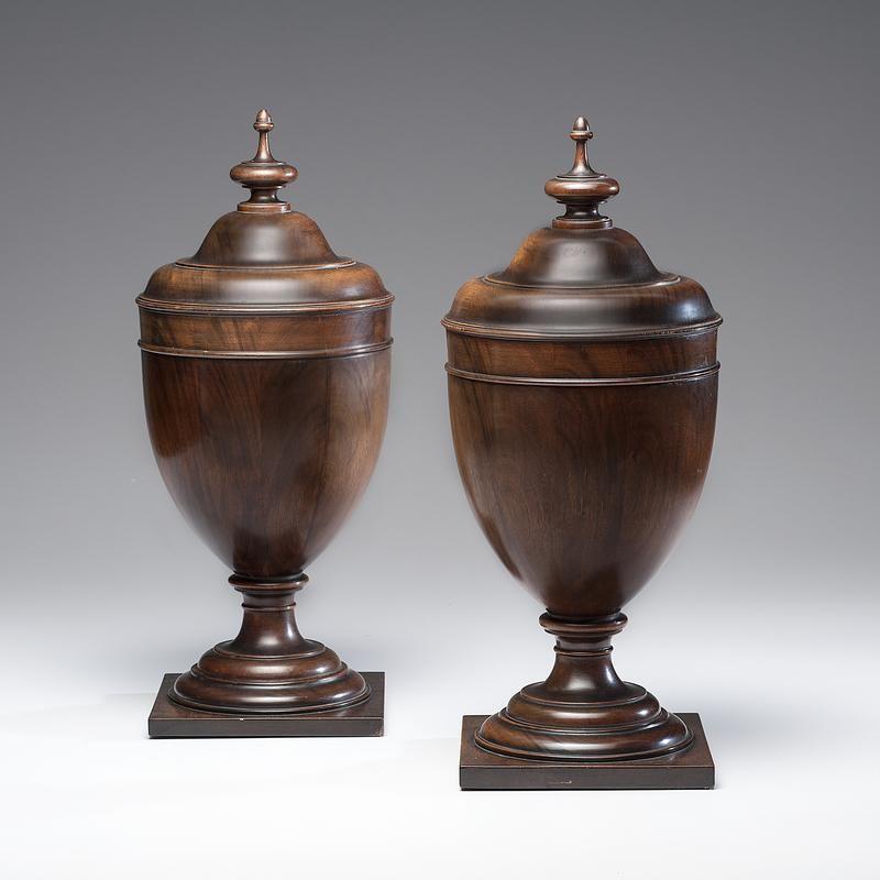 Georgian Style Urn-Form Knife Boxes - Price Estimate $1500 - estimate form