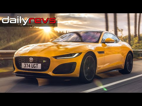2021 Jaguar F Type R Coupe Sorrento Yellow Driving Design Dailyrevs Com In 2020 Jaguar F Type Jaguar Coupe