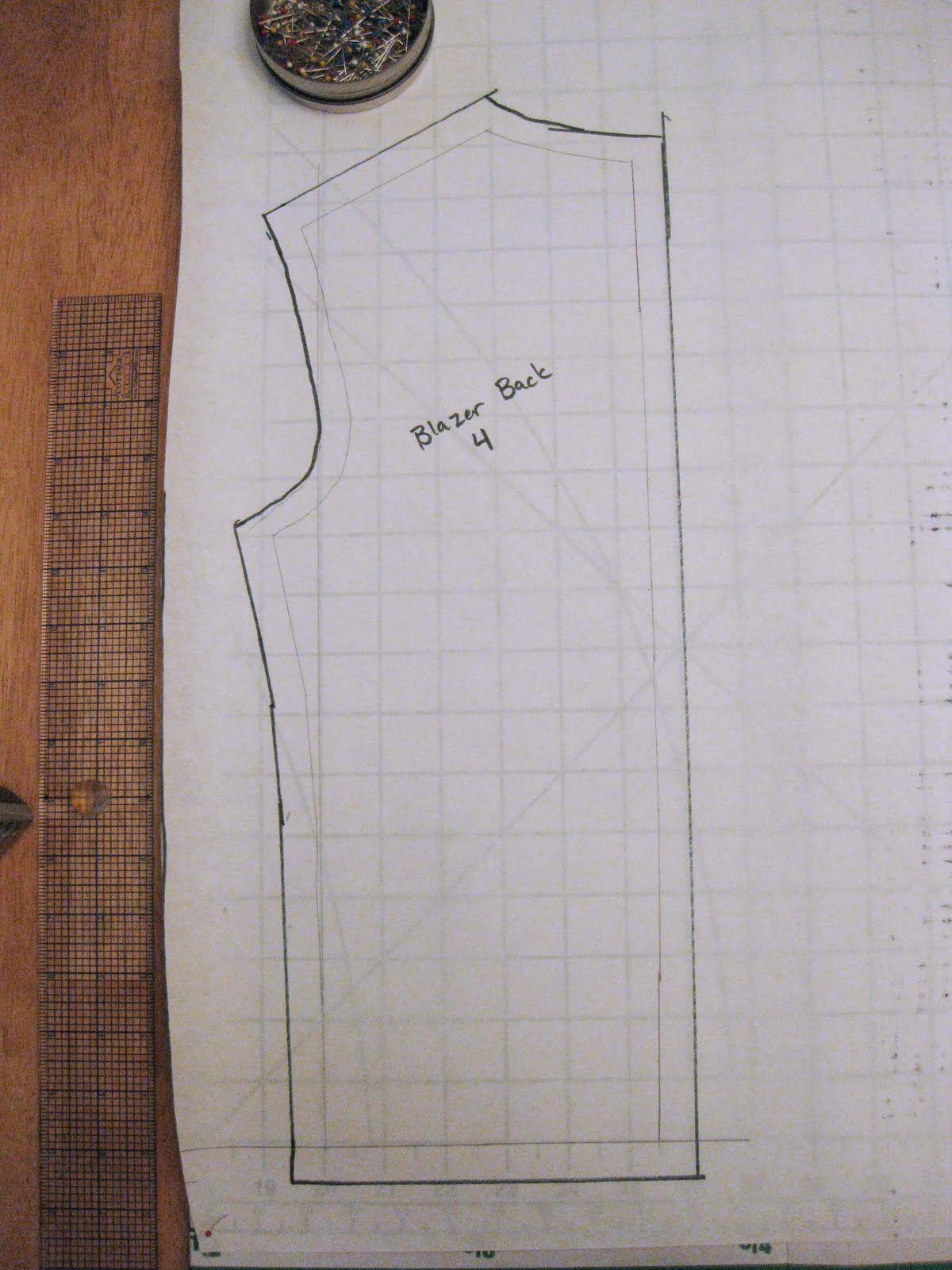 Blazer pattern making tutorial, Rub off patterning | SILUETAS ...
