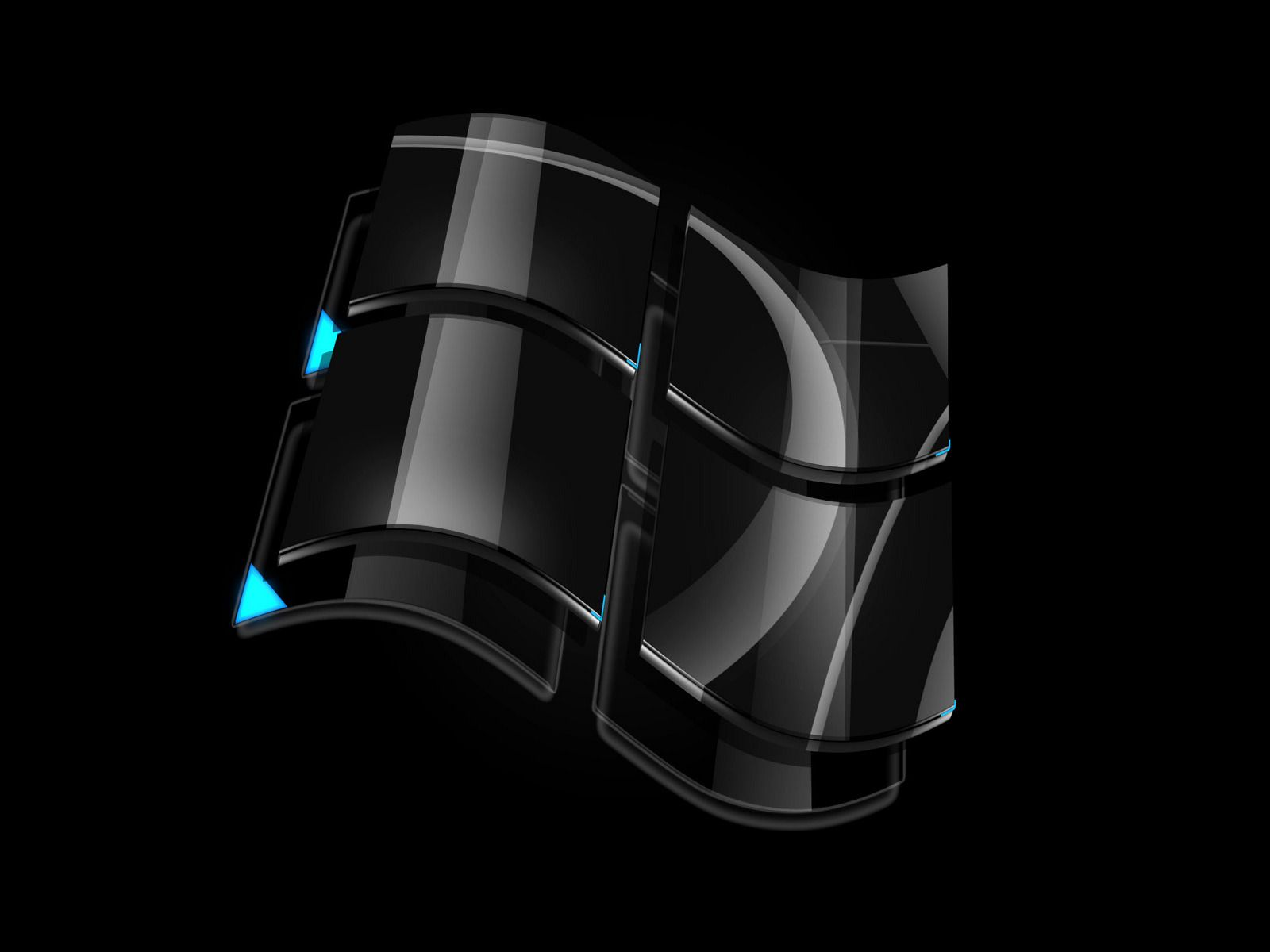 Black Windows - Wallpaper black windows vista logo wallpaper 400x300 badass windows hd wallpaper
