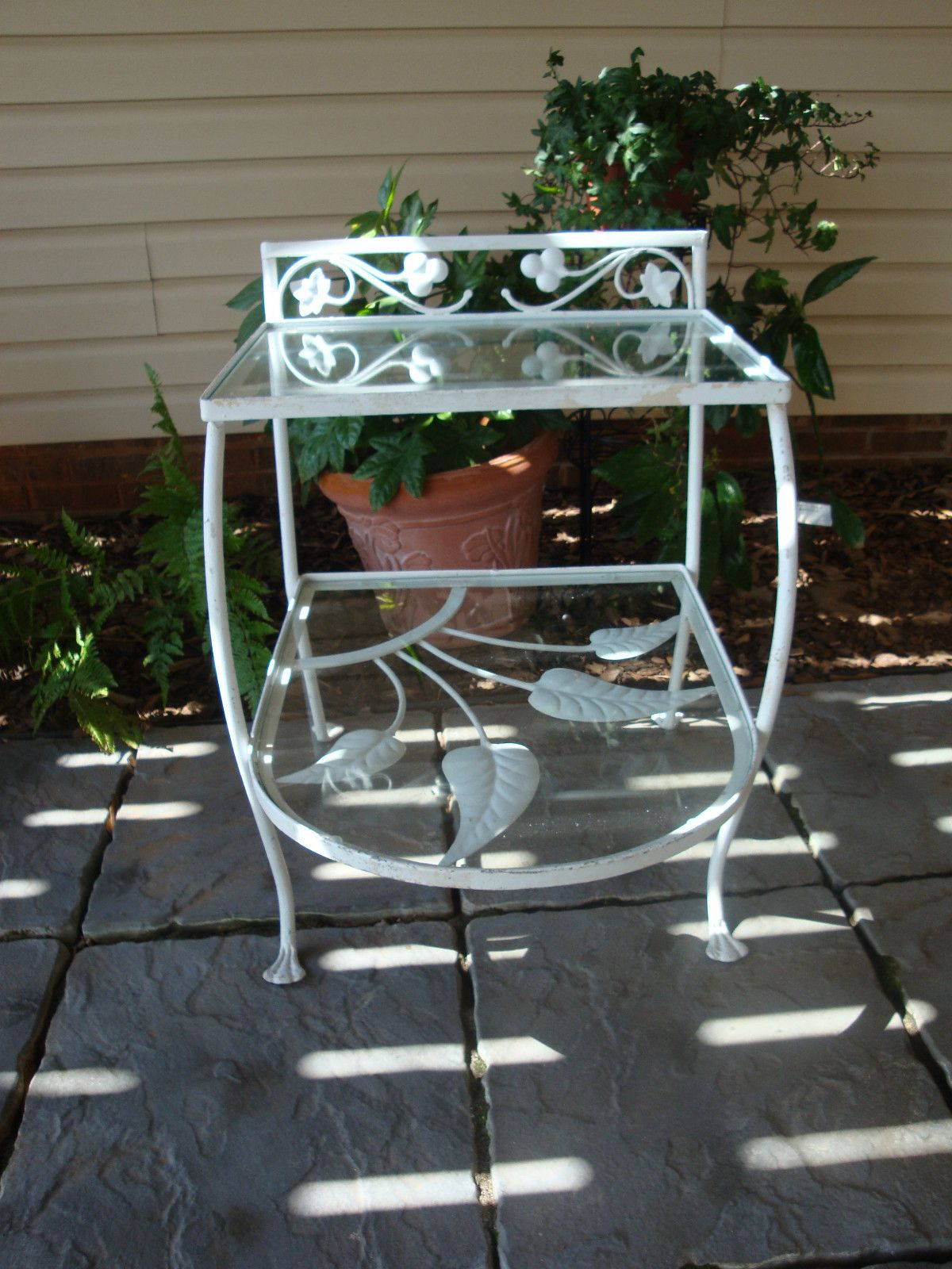 Vintage Salterini-palm Springs Wrought Iron Side Table