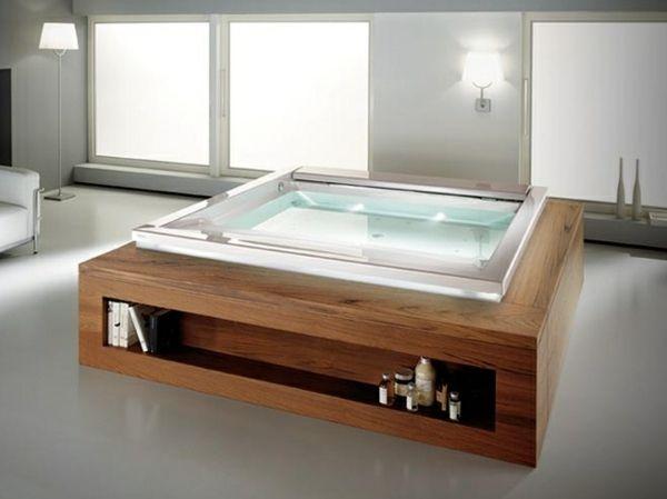 Whirlpool Holz Verkleidung-Regale freistehende Badewanne ...