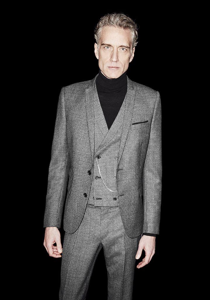 299369a318b The Kooples - Lookbook Men grey three piece suit | men | Three piece ...