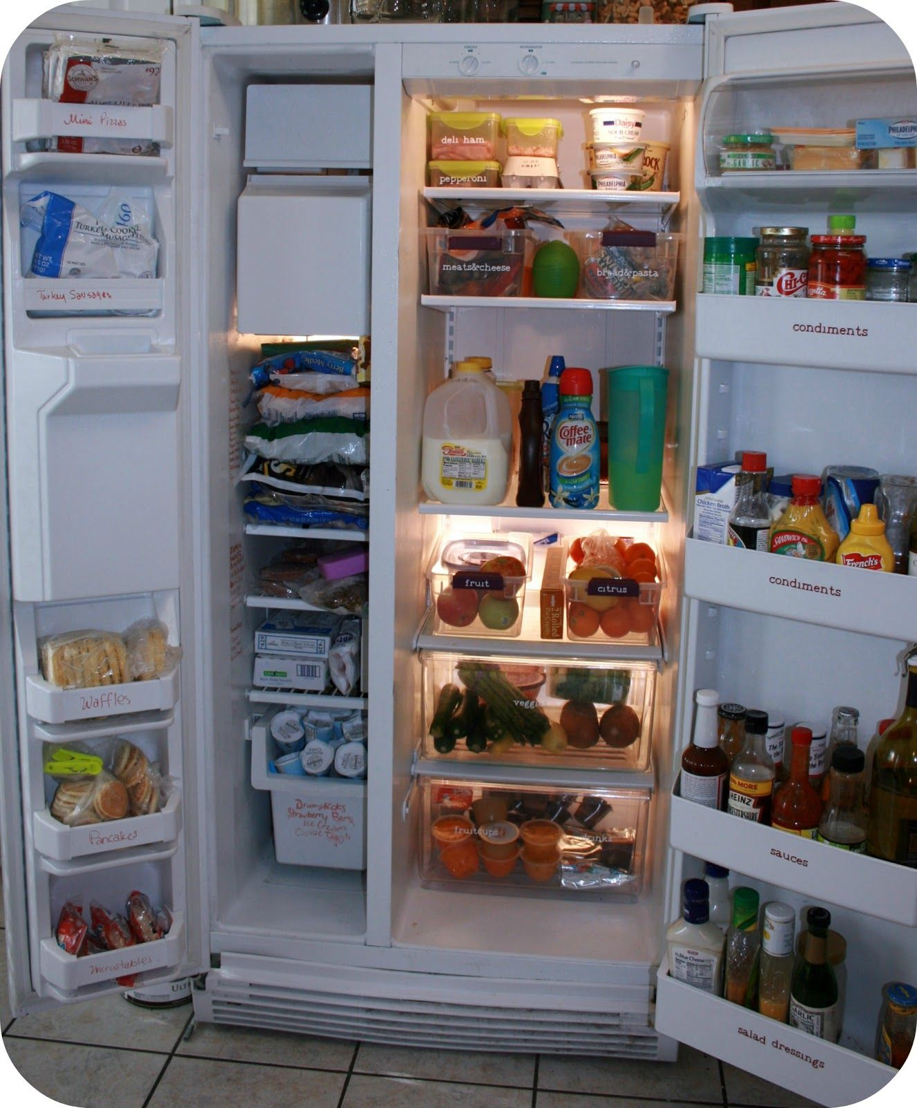 Organizing Your Refrigerator Mom 4 Real Fridge Organization Refrigerator Organization Freezer Organization
