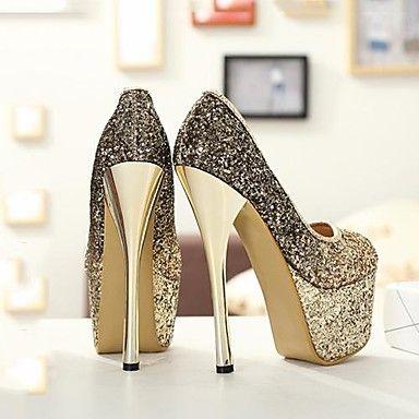 sapatos femininos rodada calcanhar toe stiletto bombas vestido sapatos mais cores disponíveis – BRL R$ 136,77