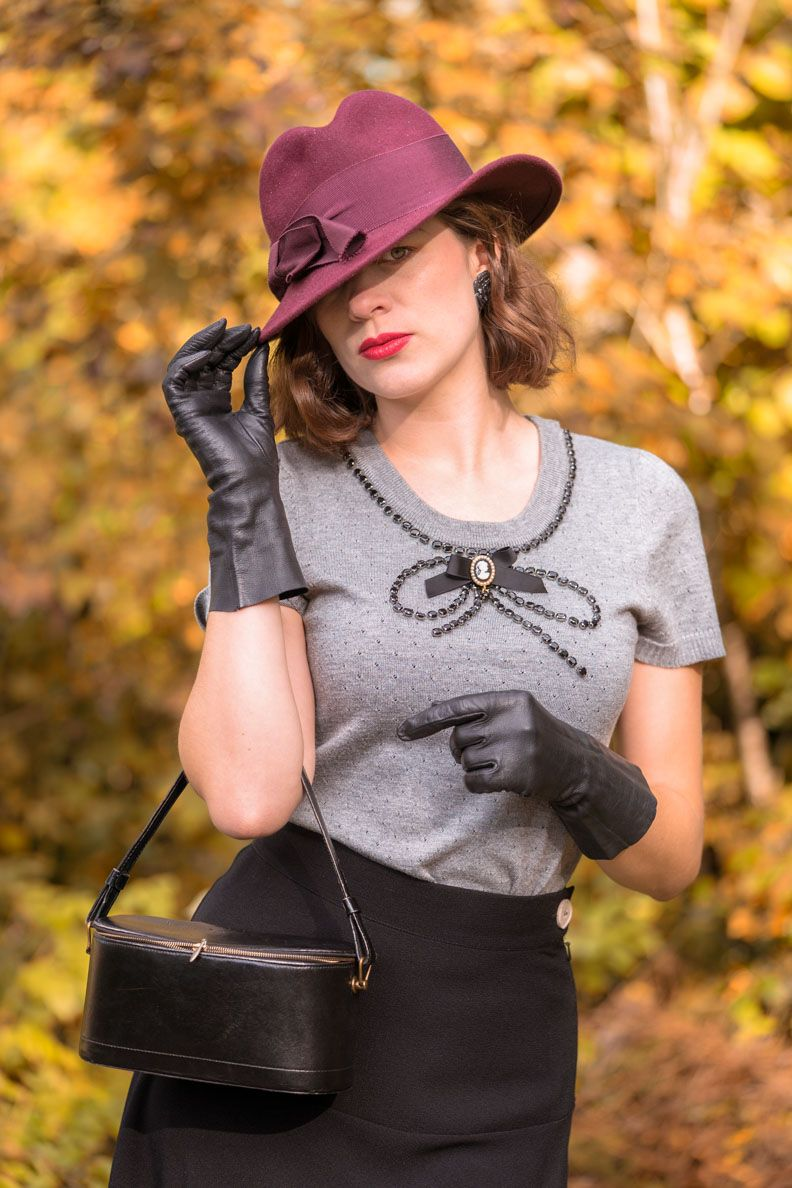 Damen Autohandschuhe D6 Schwarz