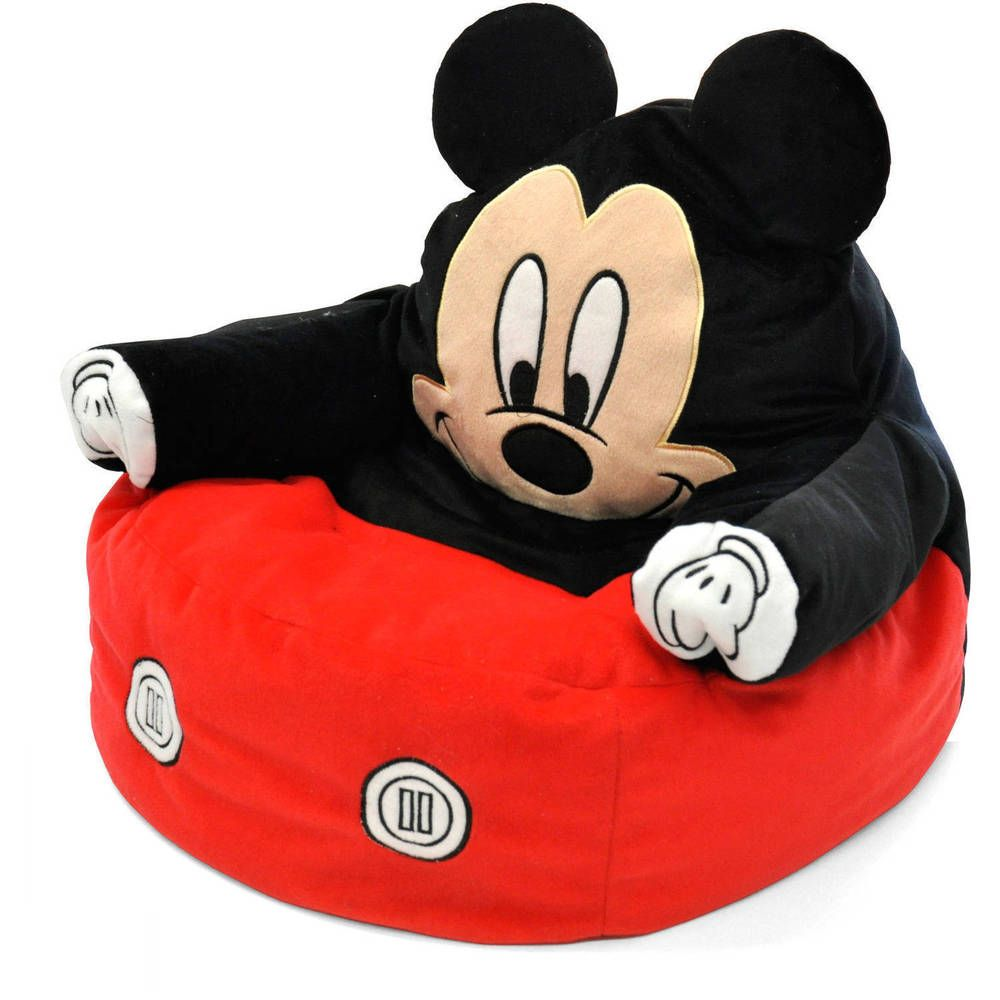 BEAN BAG CHAIR Toddler Mickey Mouse Kids Club Furniture Disney Couch Toy  Play #Disney