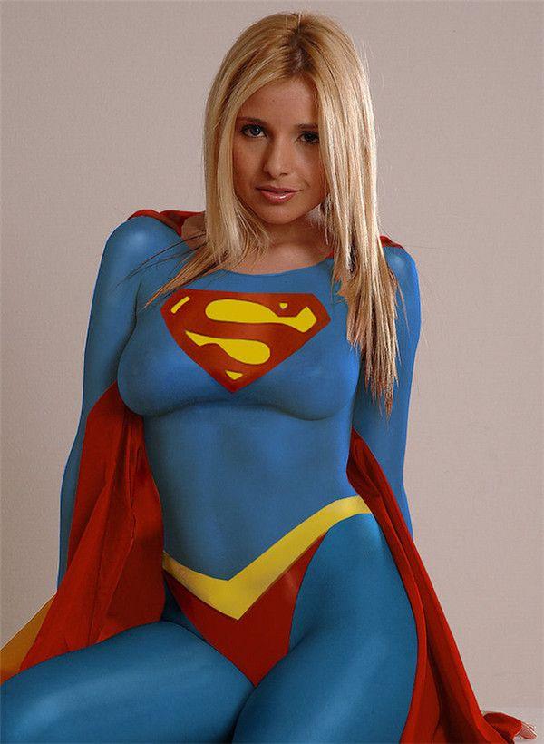 nude-body-painted-superheroine