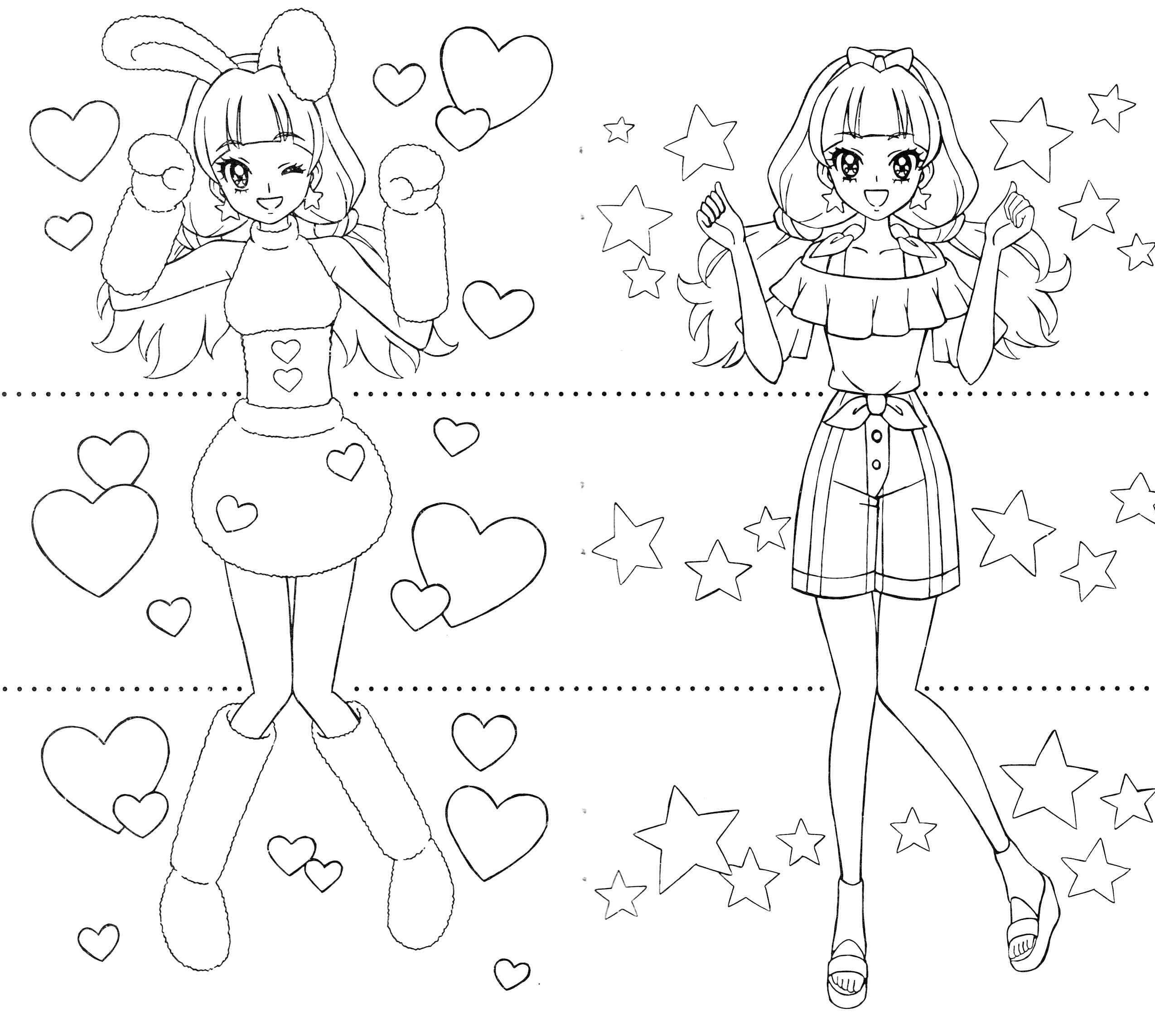 princess precure kirara anime coloring pages pinterest