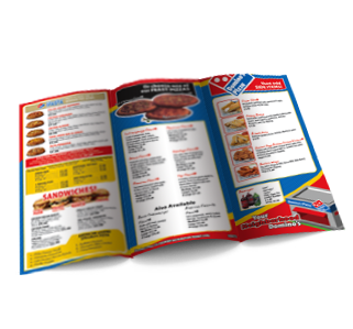 we provides affordable restaurant menus printing takeout services