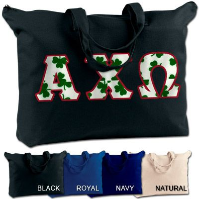 Alpha Chi Omega shoulder bag comes with your 4 inch #Greek letters sewn on the front.   #Sorority #AlphaChiOmega #AChiO #Bag #SchoolBag #CollegeEssentials