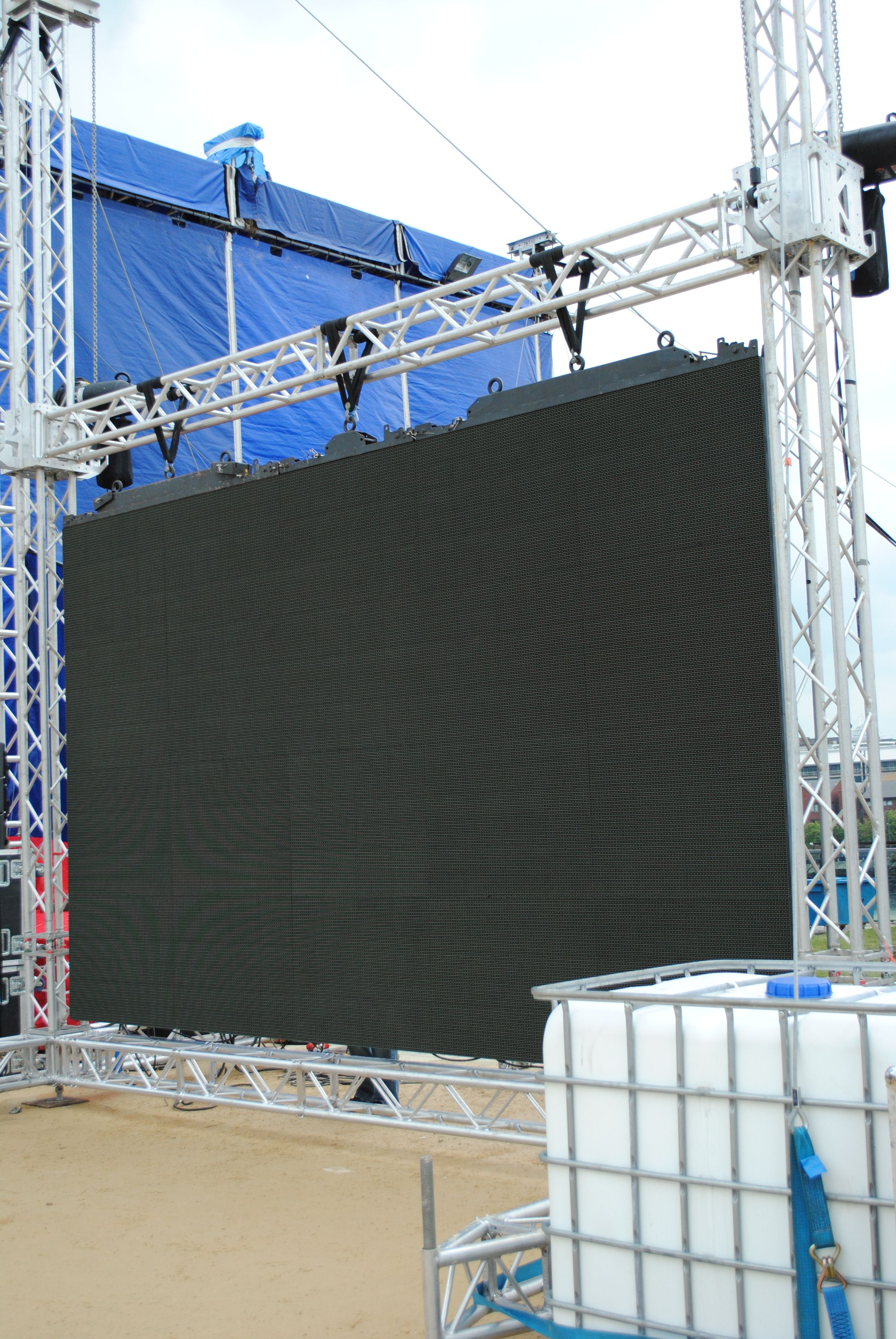 The screens are up!