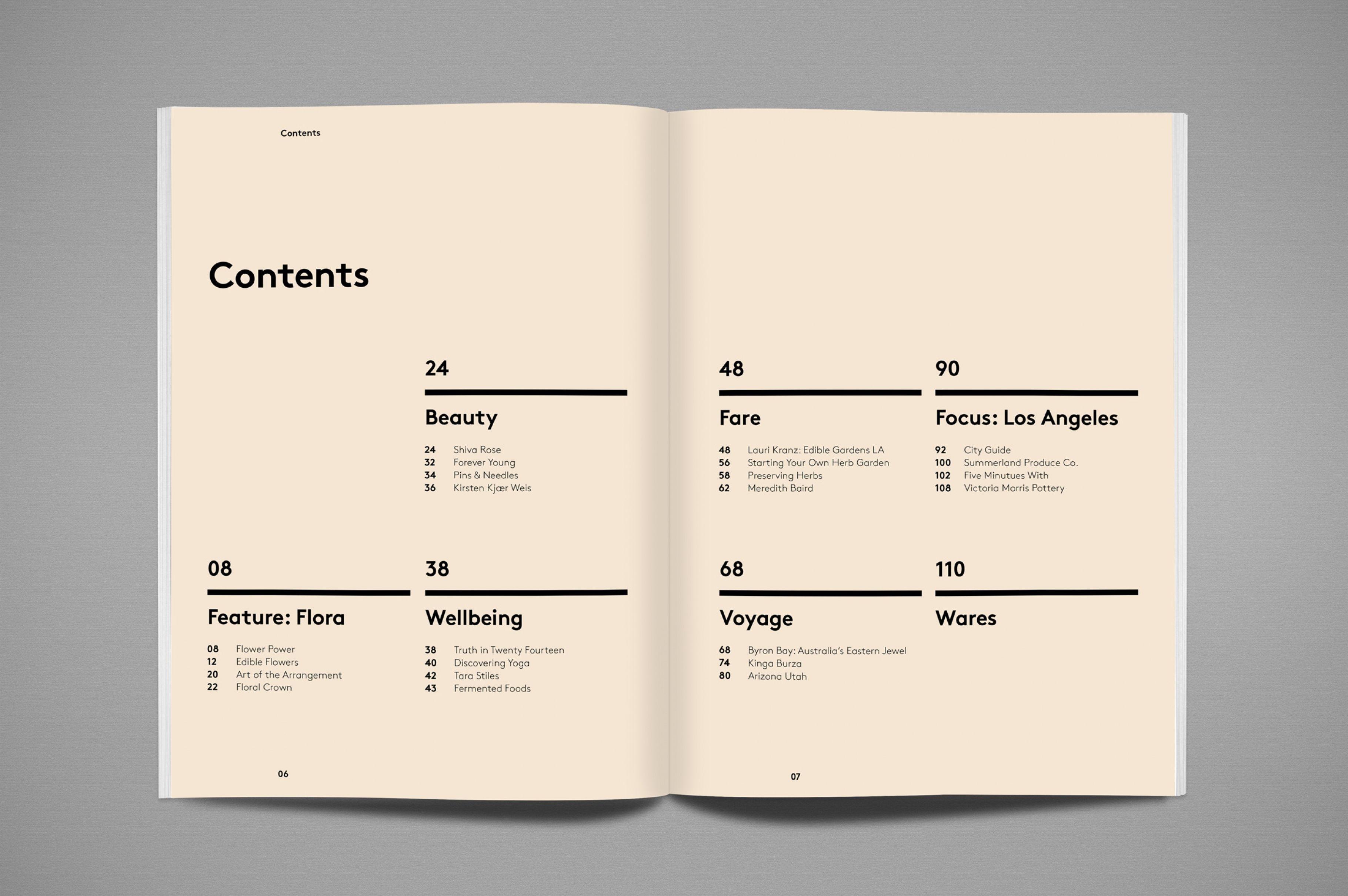 Nourished Journal 002 Portfolio design layout, Book layout
