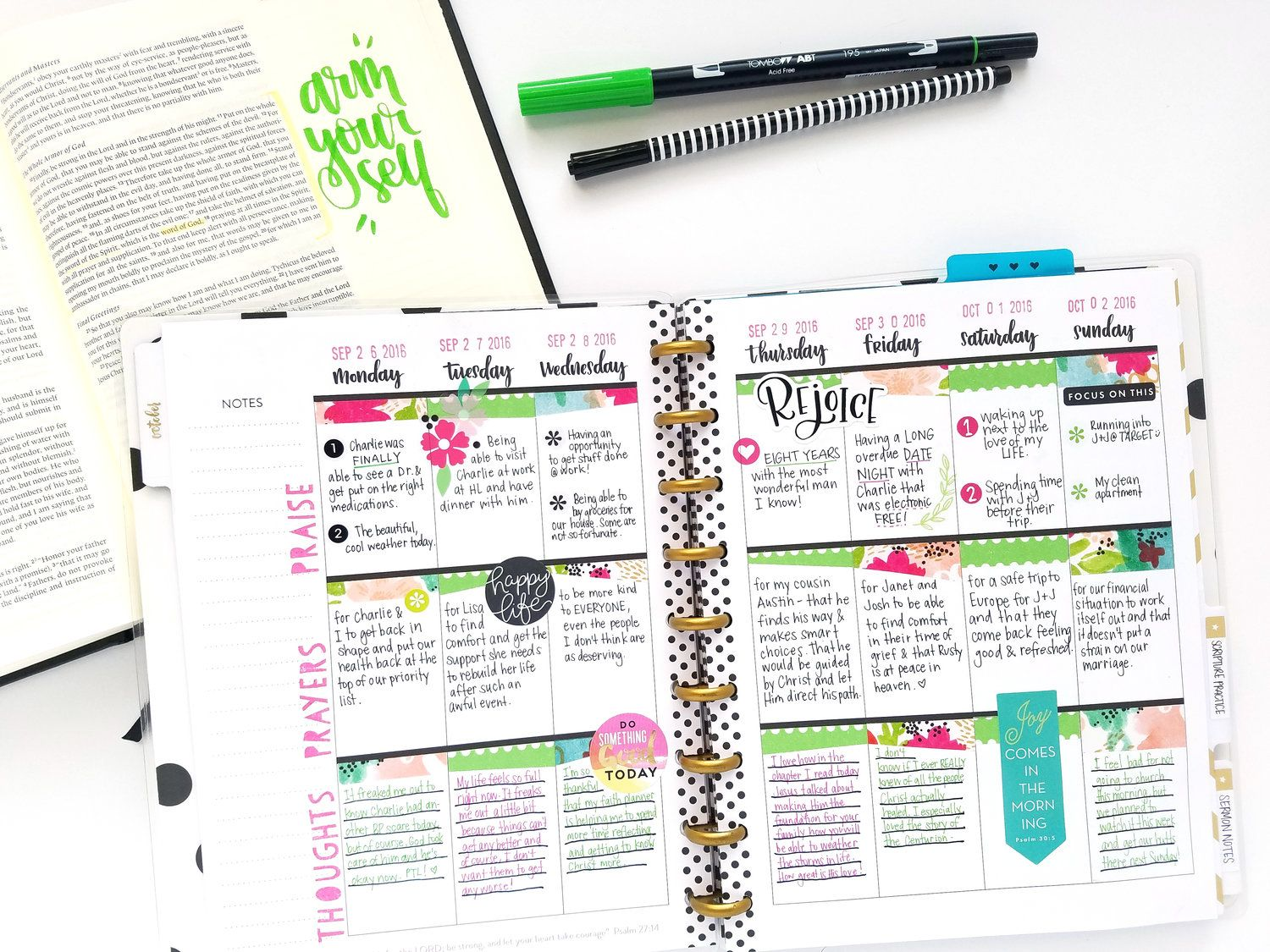 A full loved faith planner
