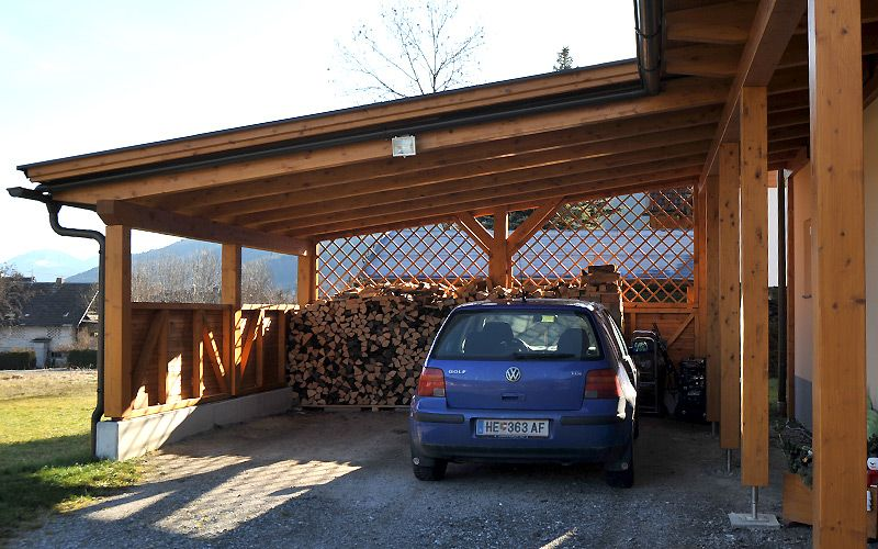Carports Carports Holzbau Hubmann Holzbau Haus Mit Garage Carport Holz