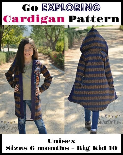 Go Exploring Cardigan Unisex Pattern | patterns I actually own ...