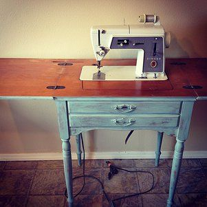 Old singer sewing machine table in perfect condition.  Have seen on Ebay for $300.  Queen Bee in Portland has it for $125!