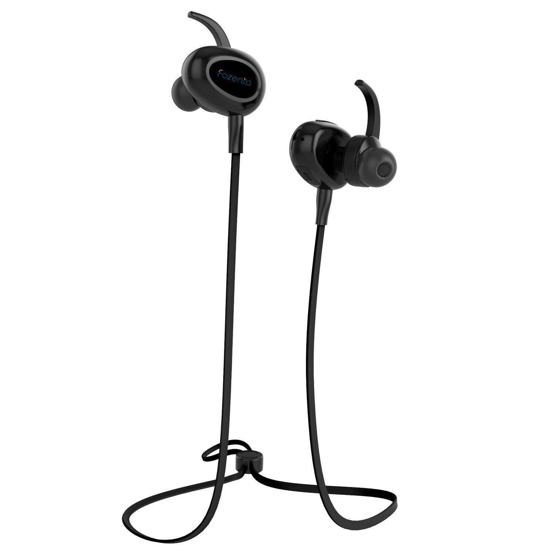 Bluetooth Headphones Fozento Wireless Sports Earbuds Noise Cancelling Sweatproof Waterproof W Mic Hd Ste Earbuds Running Headphones Bluetooth Earbuds Wireless