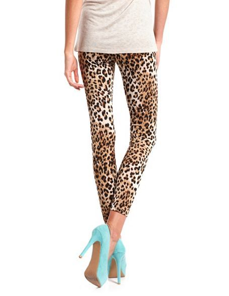 Leopard Cotton Spandex Legging: Charlotte Russe. Gotta love the Cheeta leggings!