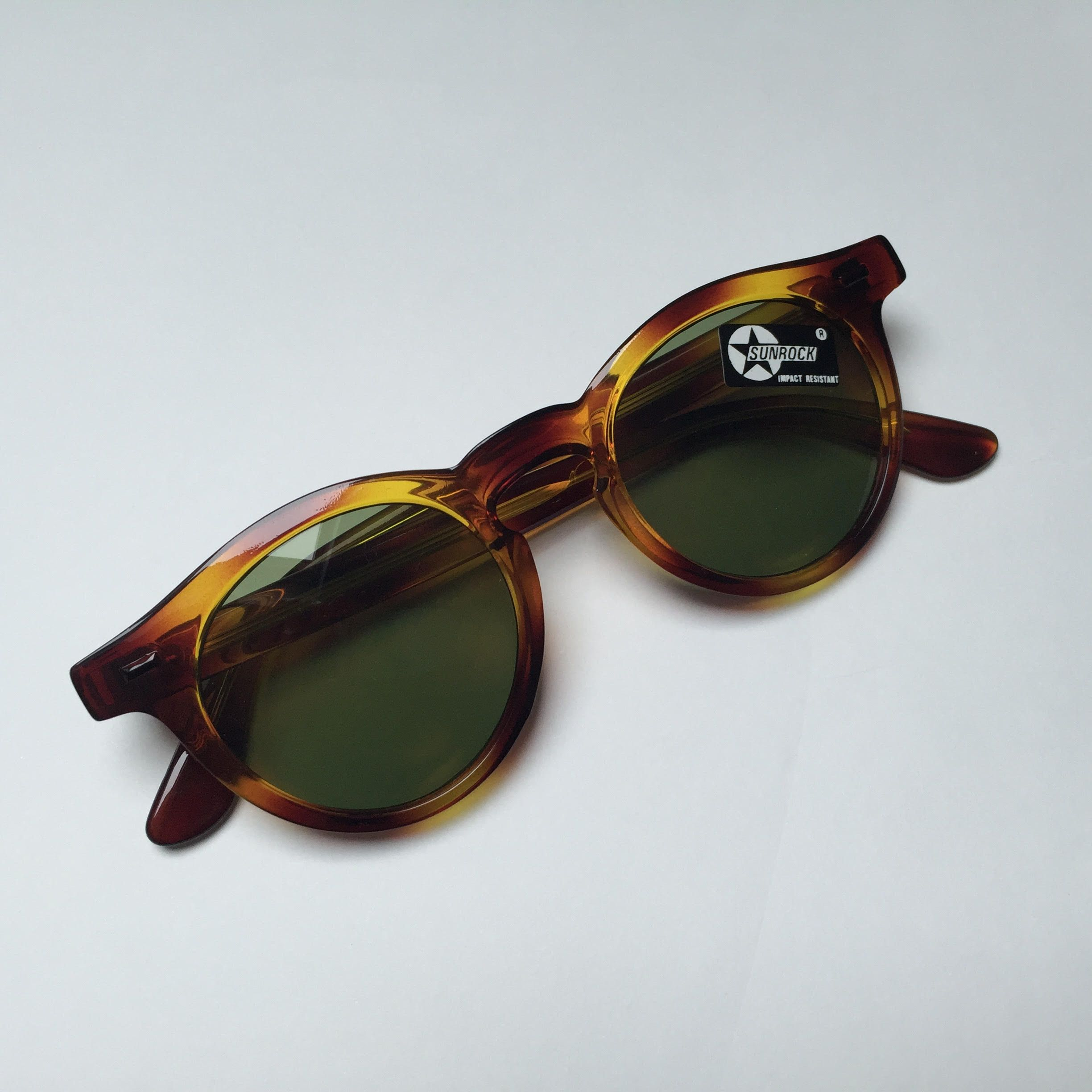 Vintage brown sunglasses by SUNROCK, made in France.Sunrock was created in  1978 by Italian French . 082c1d6b542a