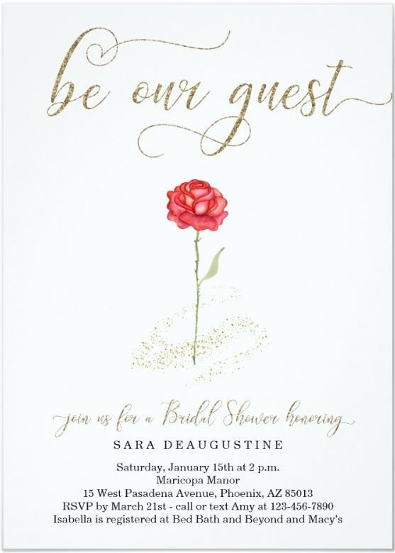 Beauty -   12 wedding Disney invitations ideas