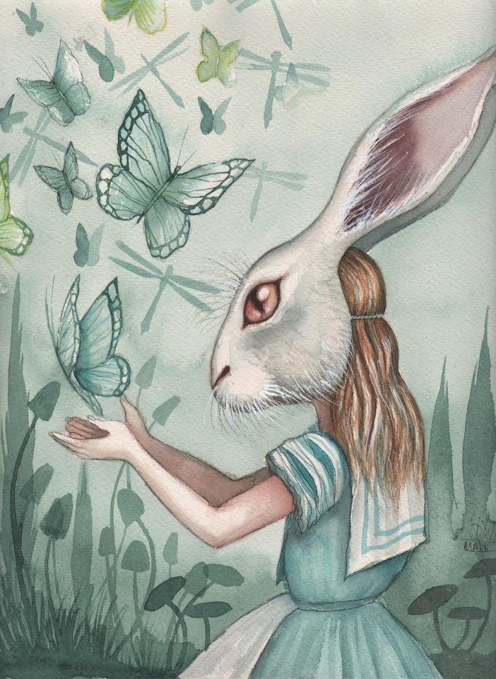 Through a Dark Looking Glass - Alice In Wonderland by Dominic Murphy