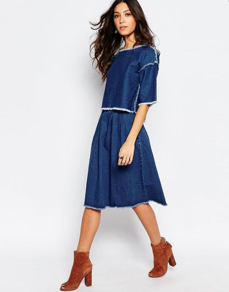 Modest Denim Midi Skirt