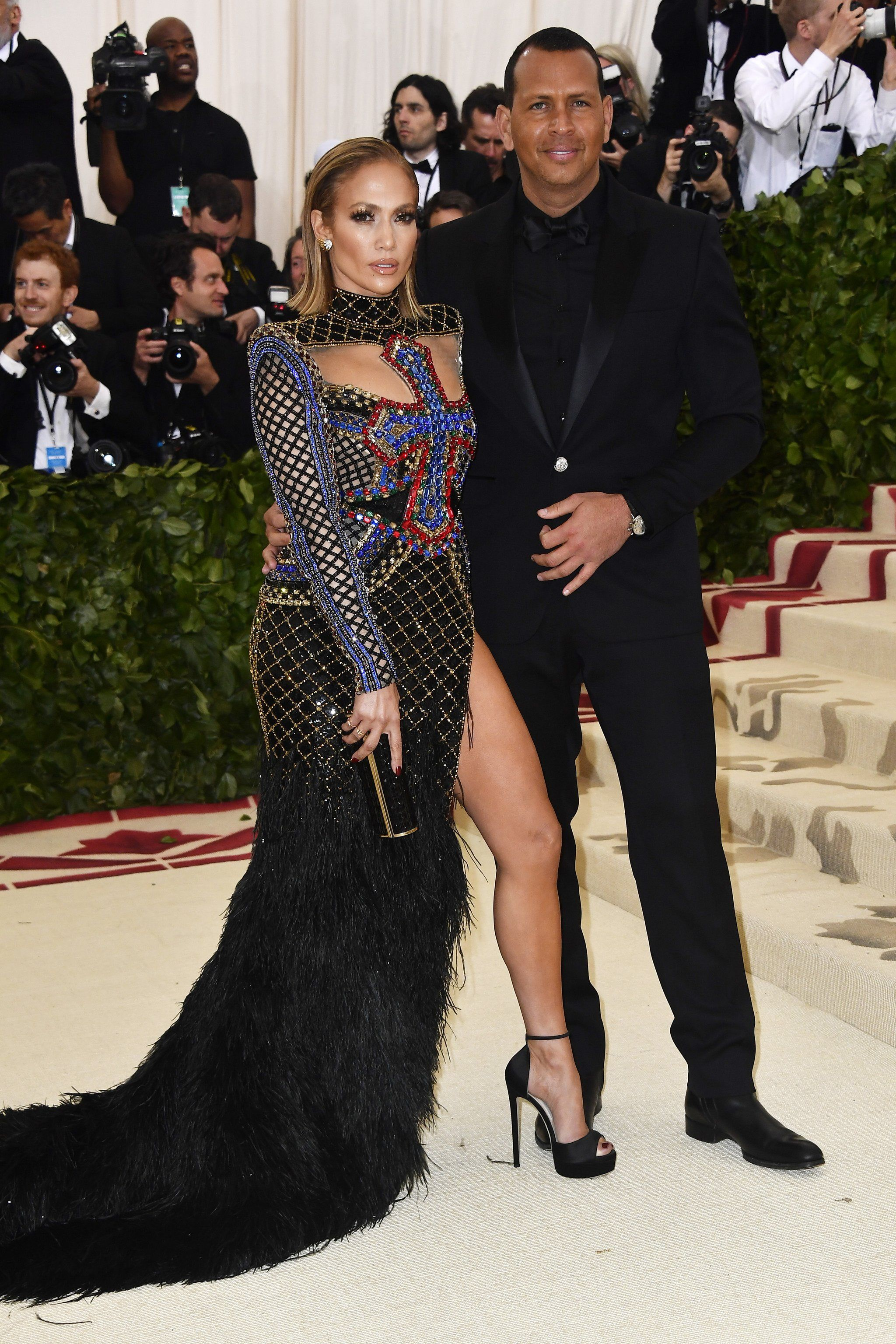 e3ac1e9c There's No Denying Jennifer Lopez and Alex Rodriguez's Look of Love at the Met  Gala