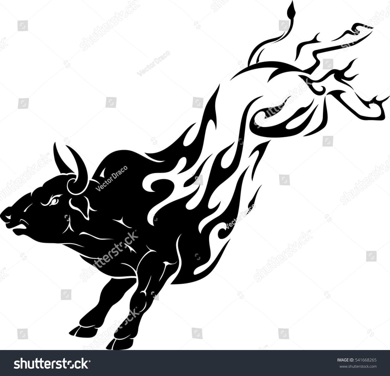 Bull Kick Flame Motorcycle paint jobs, Line art, Royalty