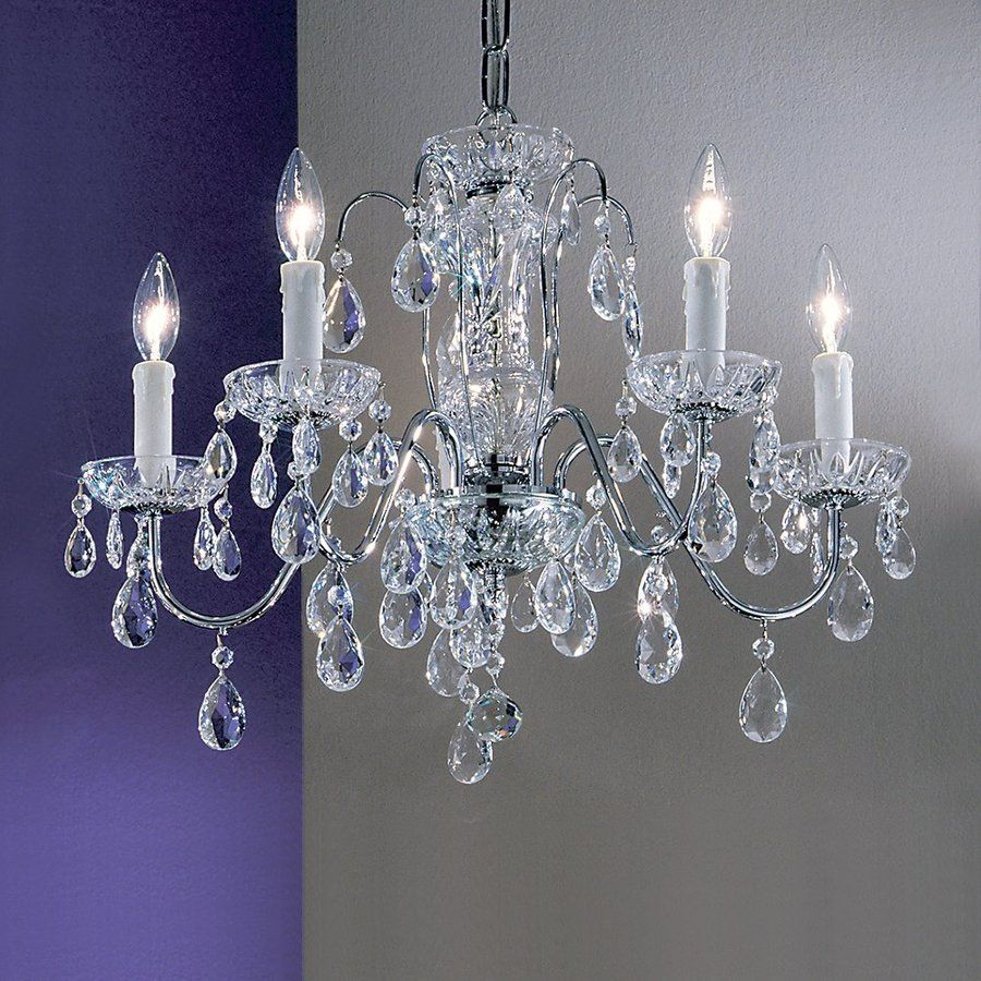 Classic Lighting Daniele 22-in 5-Light Chrome Crystal Candle Chandelier