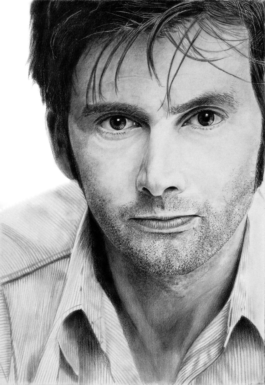 David Tennant (and other celebrities) in amazing realistic pencil drawings by Franco Clun.