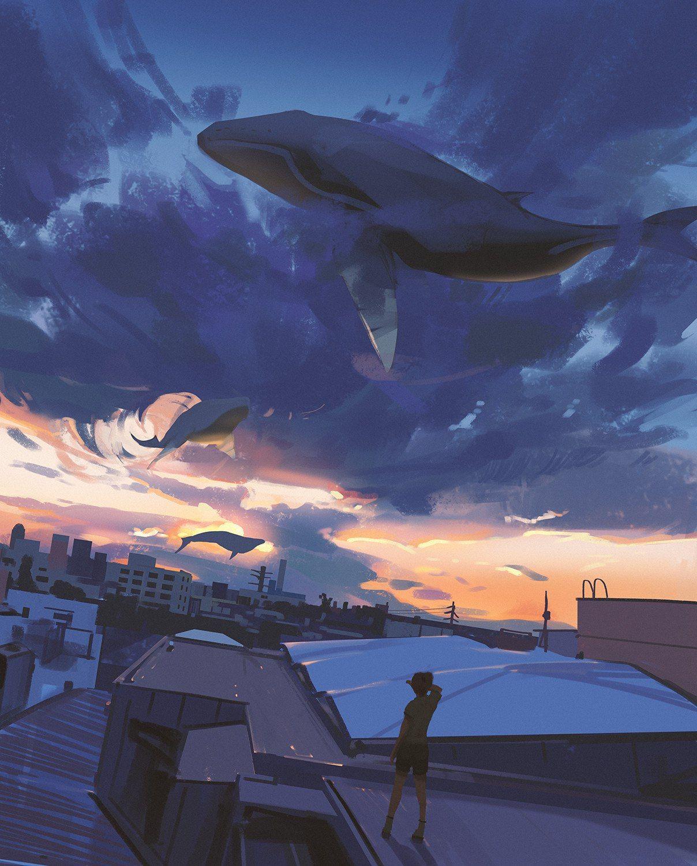такая киты в небе картинки высокого разрешения надо как