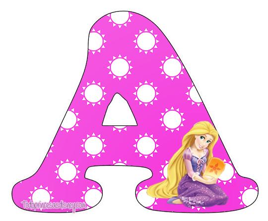 8ff094d385e6 Letras Abecedario de Rapunzel para descargar gratis