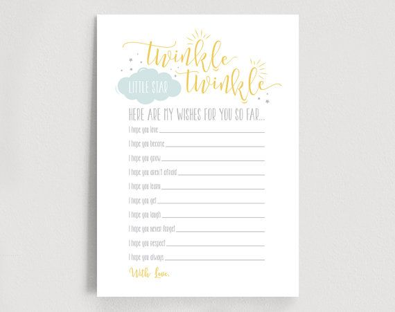 image about Free Printable Twinkle Twinkle Little Star Baby Shower Invitations known as Pin upon kid shower like recommendations
