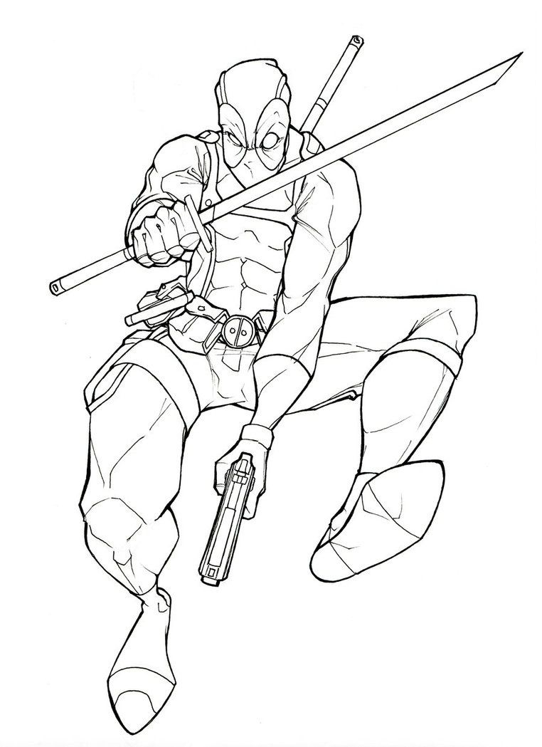 Deadpool Coloring Pages: Cool Deadpool Coloring Pages