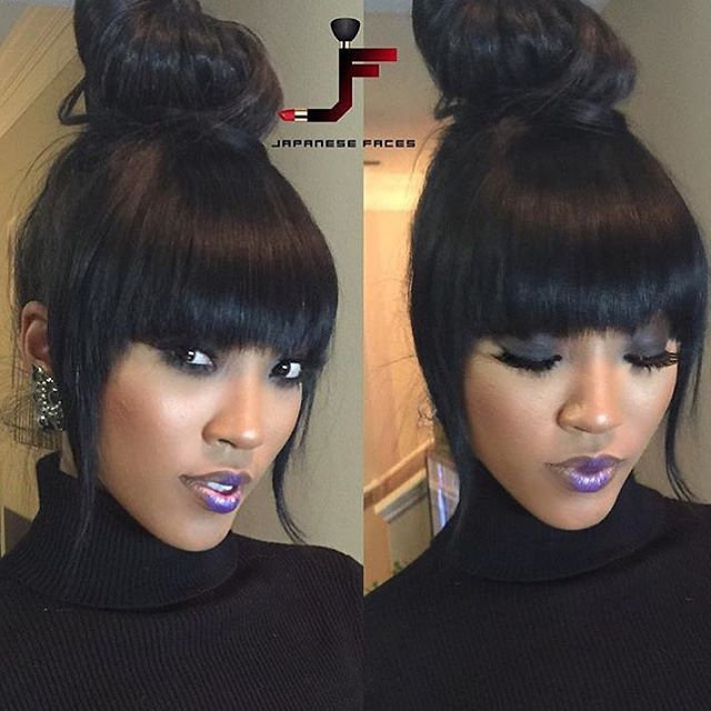 18++ Front bangs with ponytail ideas in 2021