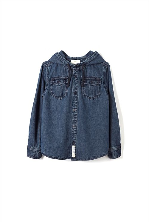 Denim Hoodie Shirt  country road spring 2013