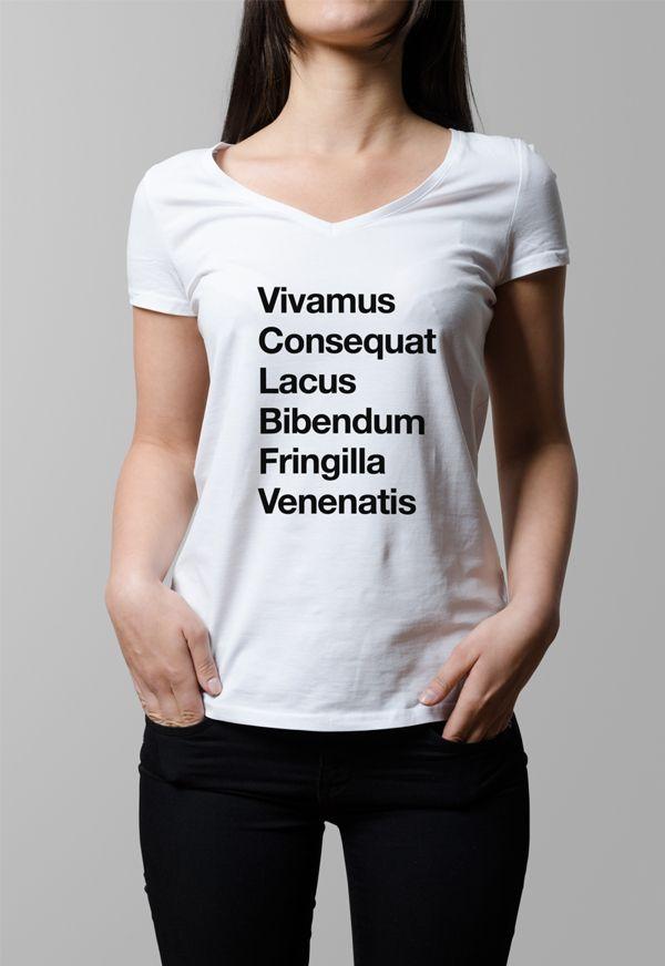T-Shirt Mock-Up / V-Neck Female Model Edition on Behance   Design ...