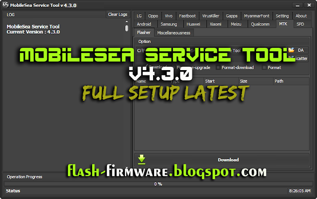 MobileSea Service Tool v 4.3.0 Full Setup Free Download