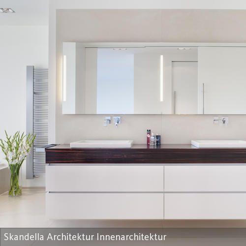badezimmer, individuell entworfener waschtisch | modern, Hause ideen
