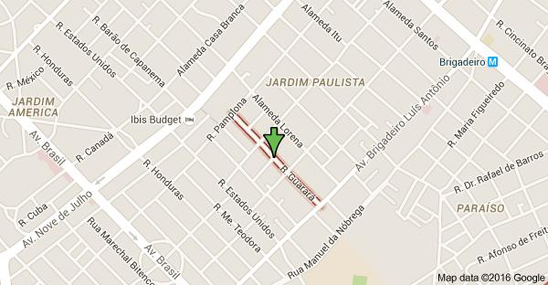 Mapa de R. Guarará - Jardins, São Paulo - SP
