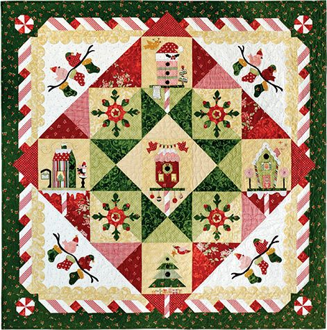 Peppermint Twist Block of the Month Series at www.pineneedlequiltshop.com