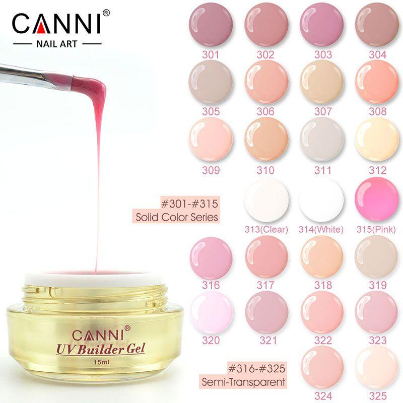 #50951 canni nagels gel inkt naakt kleur gel uv construtor 15 ml camouflage builder gel