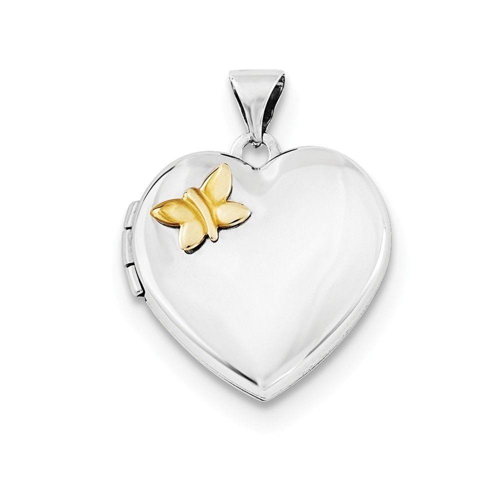 14k Gold-plated Sterling Silver Butterfly Pendant Locket, Women's