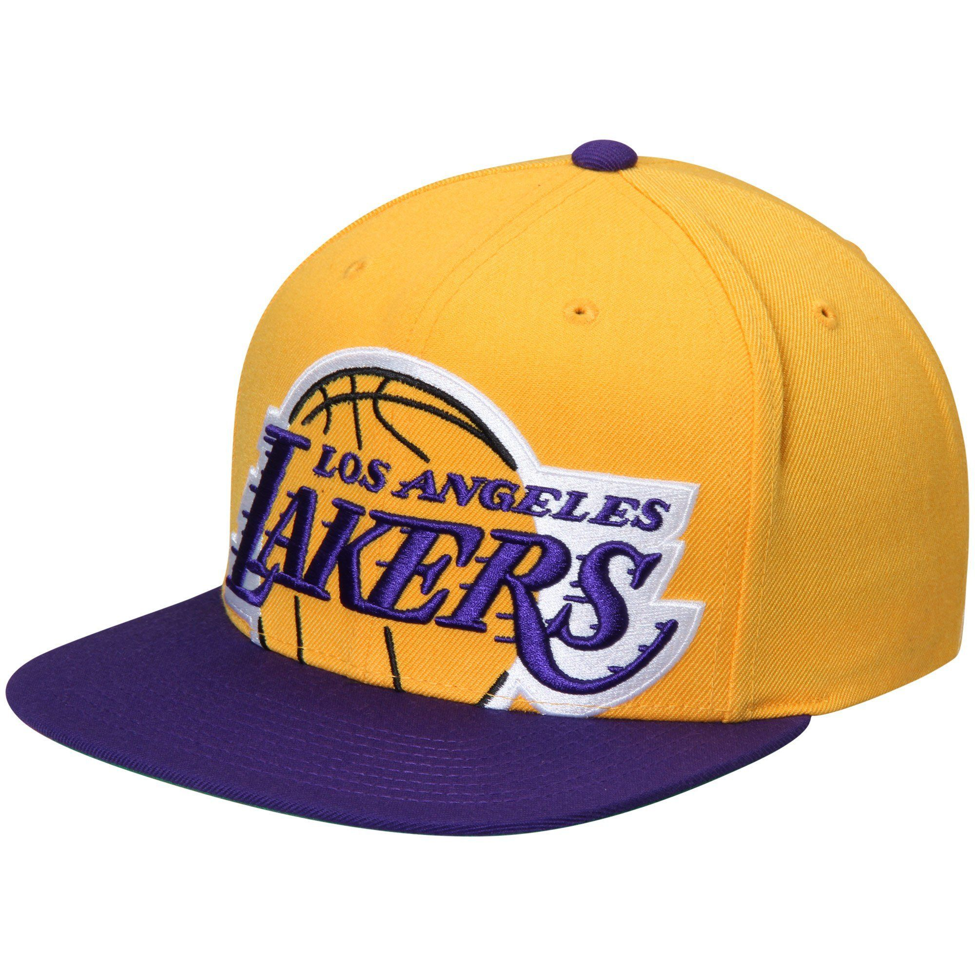 best authentic f0084 8e969 Los Angeles Lakers Mitchell   Ness Cropped XL Logo Adjustable Snapback Hat  - Gold Purple