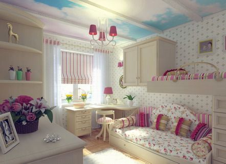 Bunk Beds Teenage Girls Bedroom Furniture For the Home