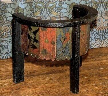 William Morris Gothic Revival Style Painted Chair From His - William morris chairs
