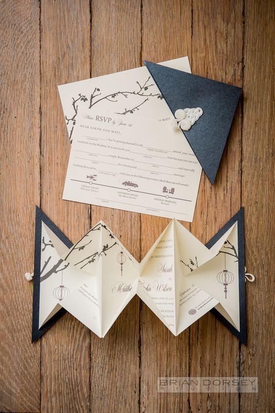 faire part origami id es mariage pinterest invitation mariage d coration mariage et deco. Black Bedroom Furniture Sets. Home Design Ideas